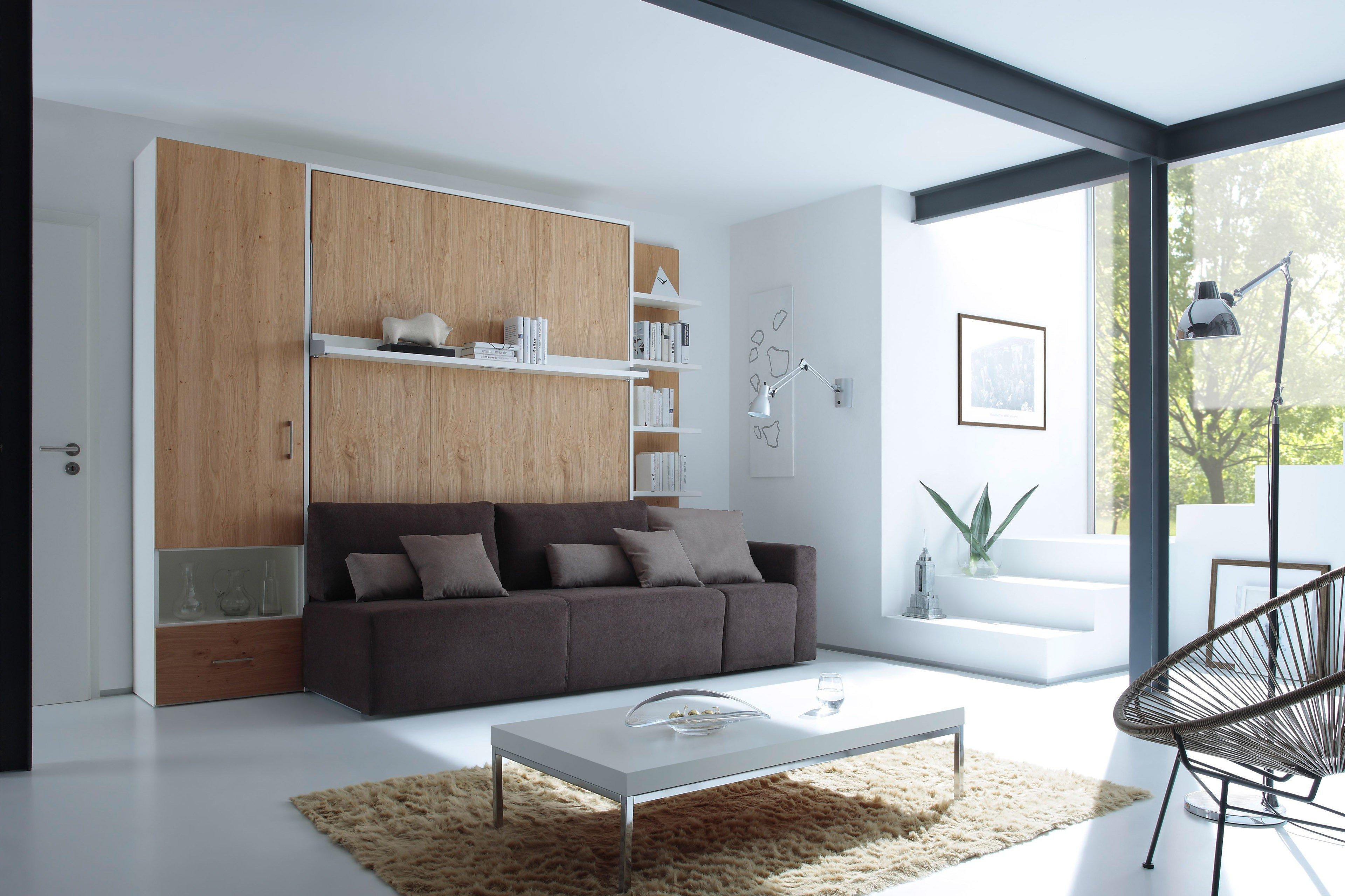 2weiraumwunder von nehl schrankbett inklusive lounge anbausofa
