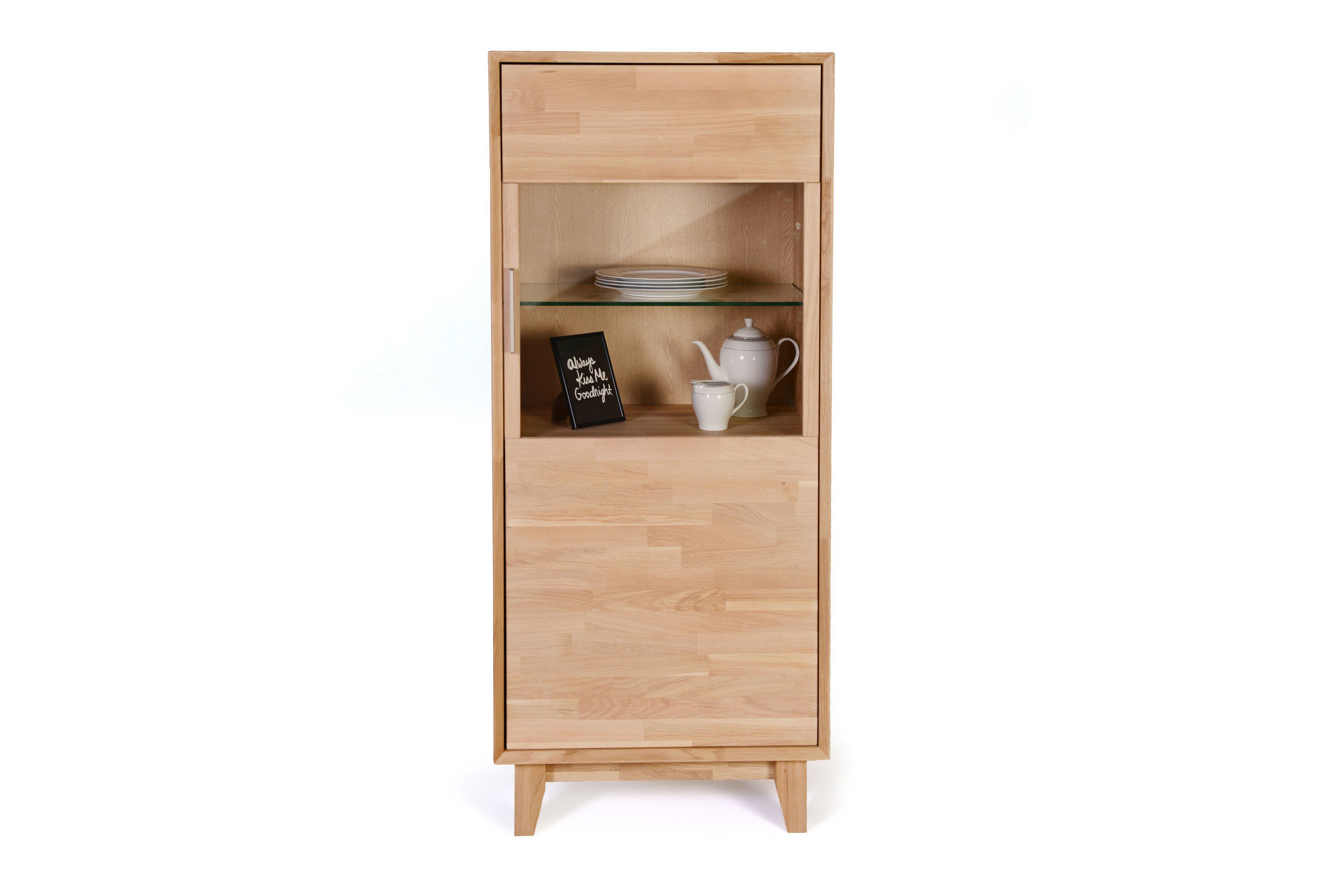 numero uno von standard furniture vitrine in eiche bianco