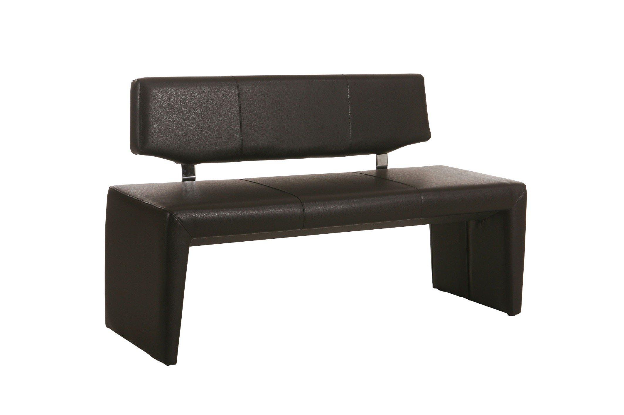 ibiza von standard furniture bank in kunstleder dunkelbraun