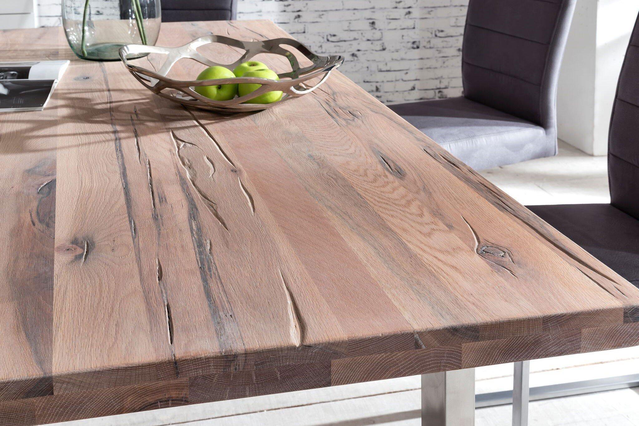 Tisch New York Eiche wei geklkt von massivdirekt