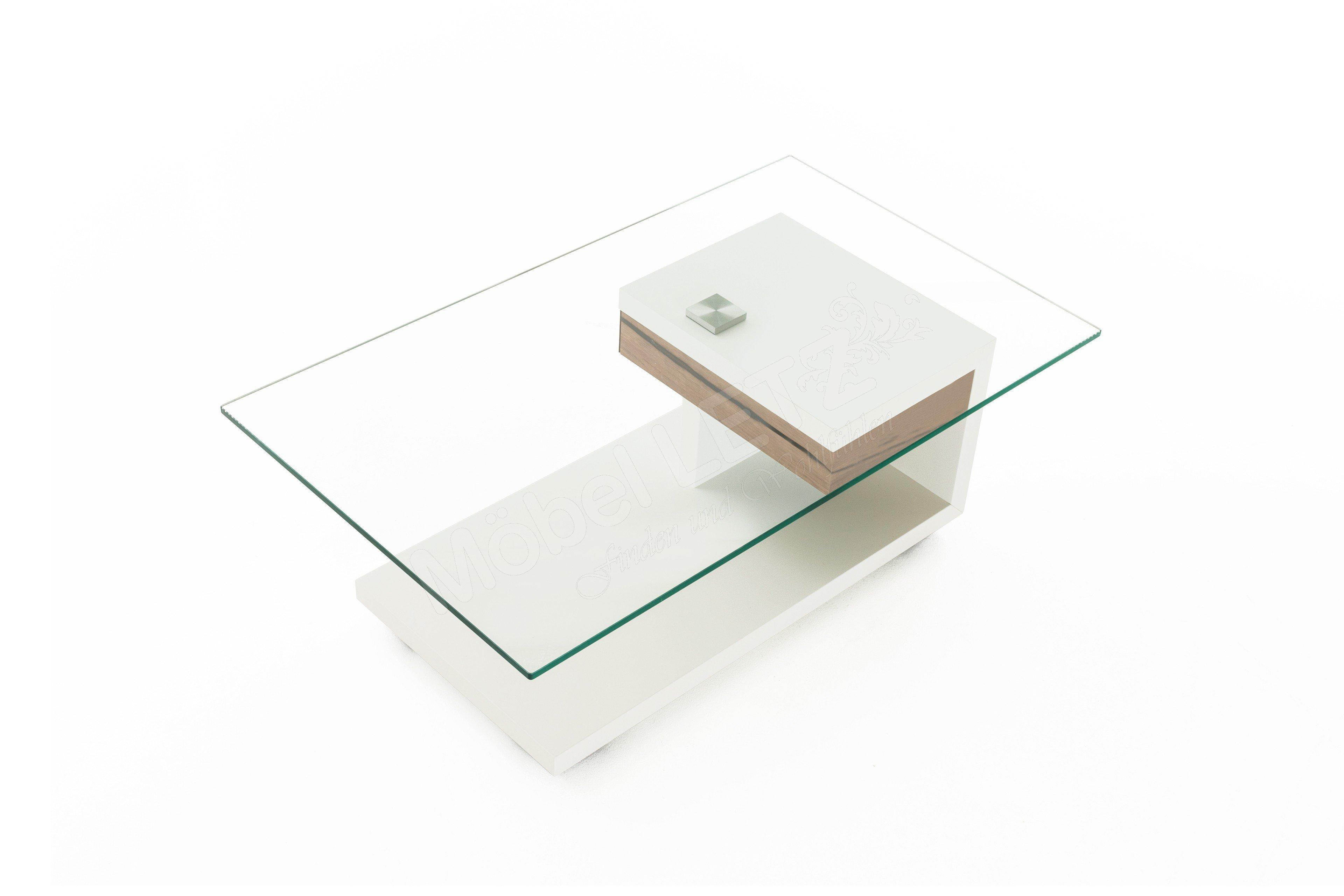 Gwinner Wohndesign Couchtisch CT404-110 Weiß