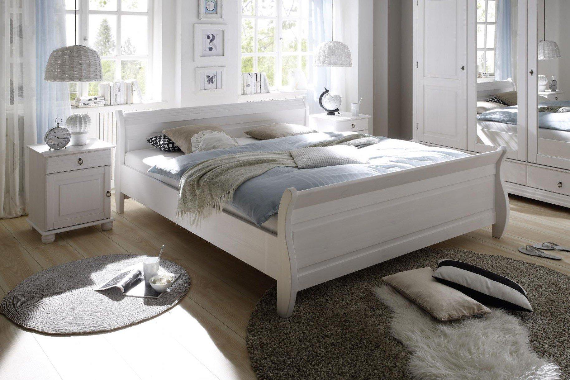 POL Power Oslo Landhaus Schlafzimmer massiv wei  Mbel Letz  Ihr OnlineShop