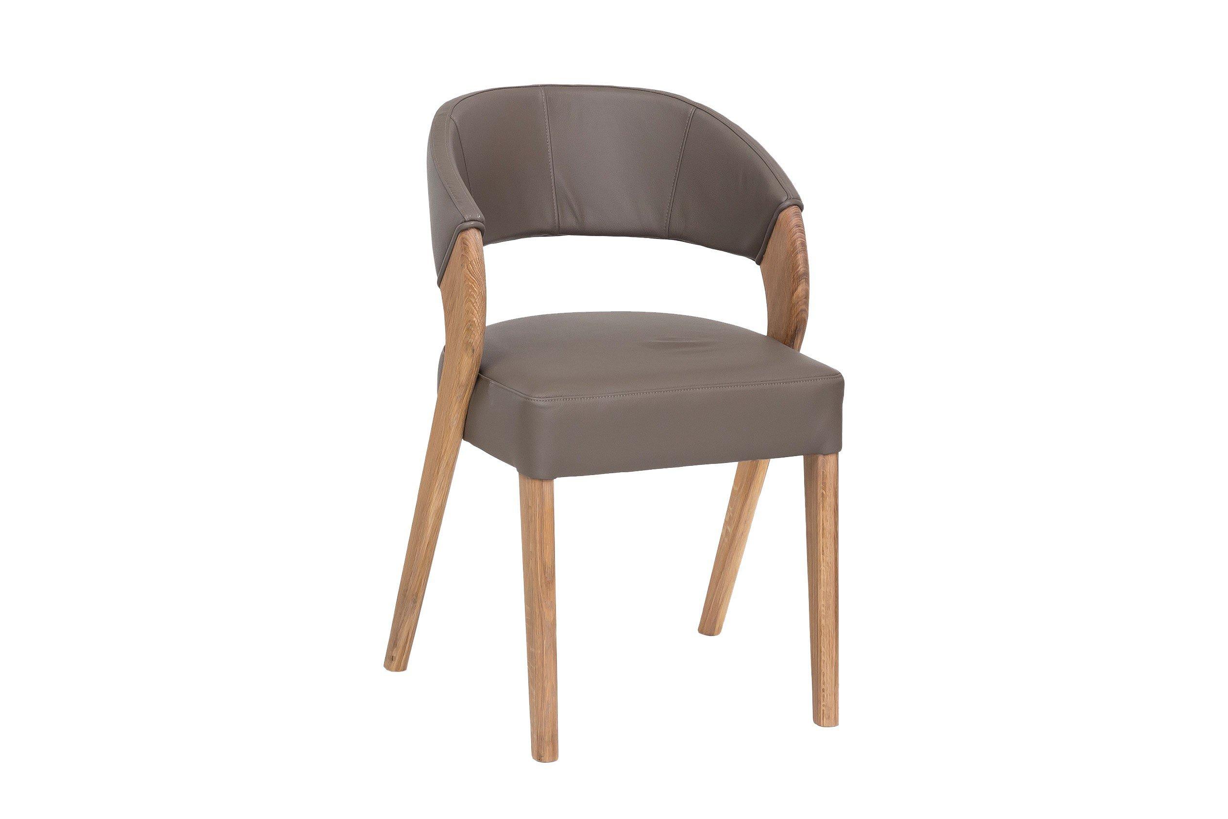 almada 1 von standard furniture stuhl mit lederbezug steingrau