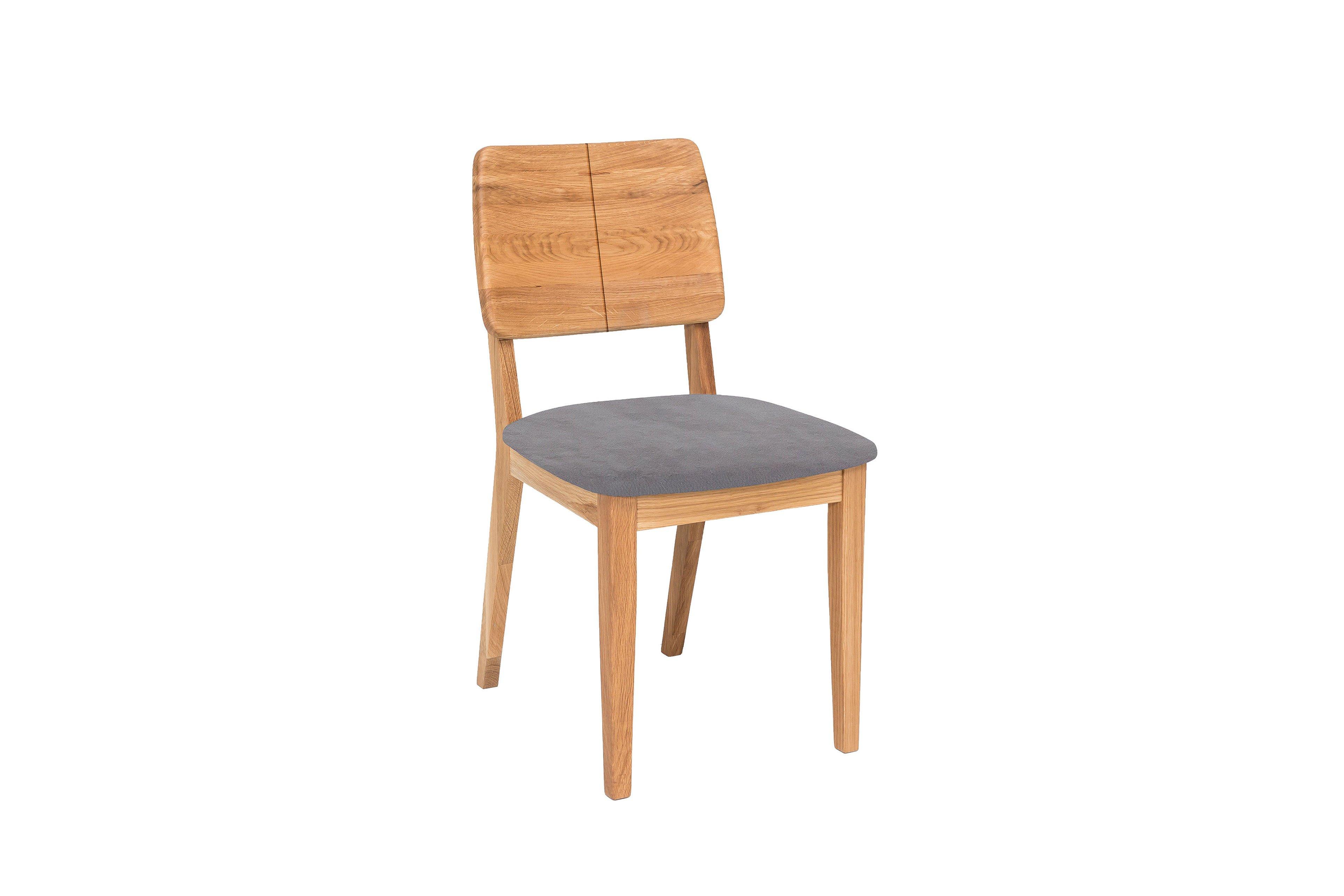 norman 2 von standard furniture stuhl aus eiche in grau