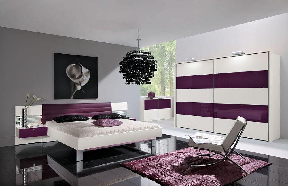 Starlight von Nolte Delbrck Schlafzimmer aubergine