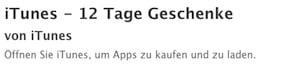 iTunes Gutschein