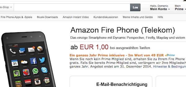 amazon fire phone angebot