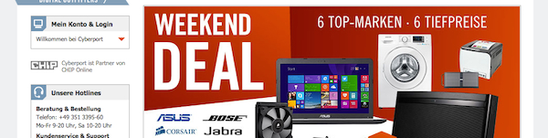 cyberport weekend deals 24.10.2014