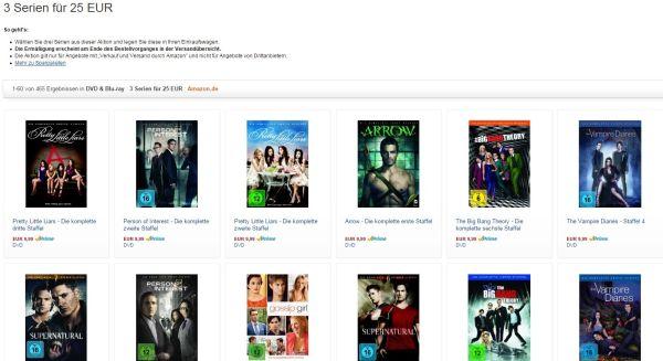 Amazon 3 Serien 25 Euro