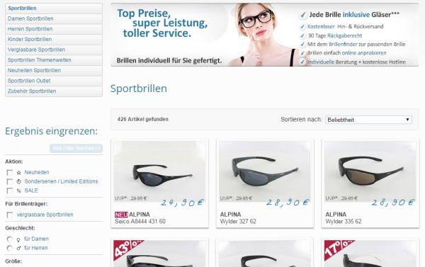 brillenplatz 7 prozent rabatt sportbrillen