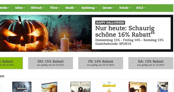 thalia gutschein 16 prozent halloween