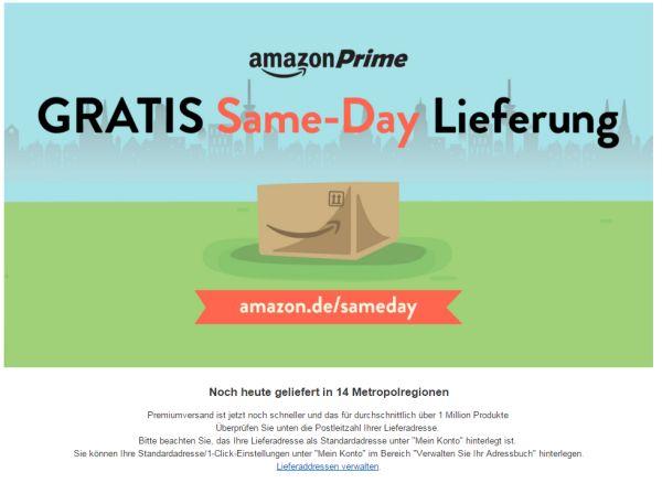 amazon same day lieferung prime gratis