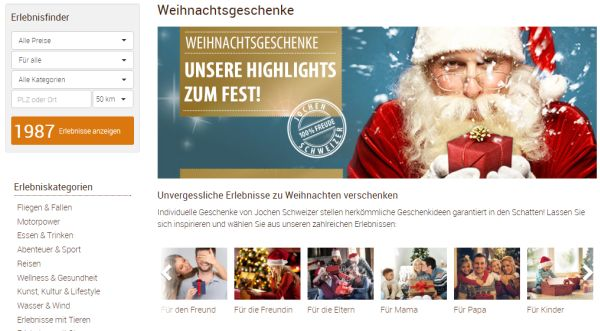 jochen schweizer geschenkideen weihnachten 2015