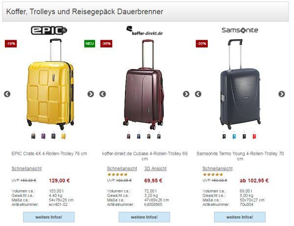 koffer direkt sale 50 prozent rabatt
