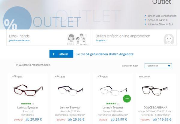 lensbest brillen outlet 40 prozent rabatt