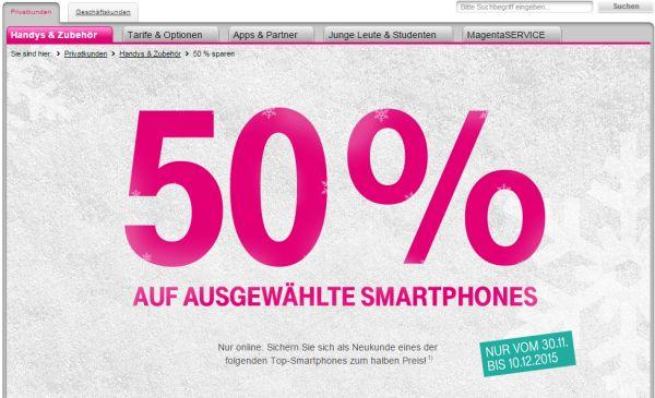 telekom rabatt 50 prozent top smartphones