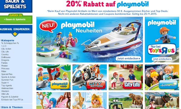toysrus gutschein 20 prozent rabatt playmobil