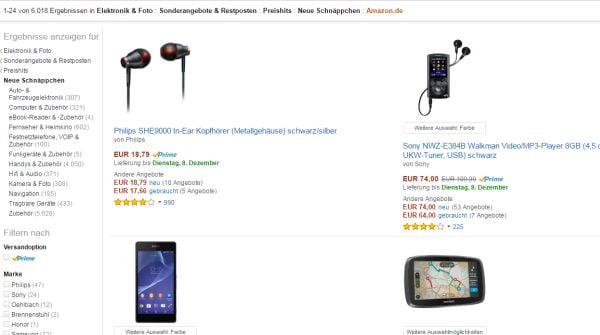 amazon elektronik sale