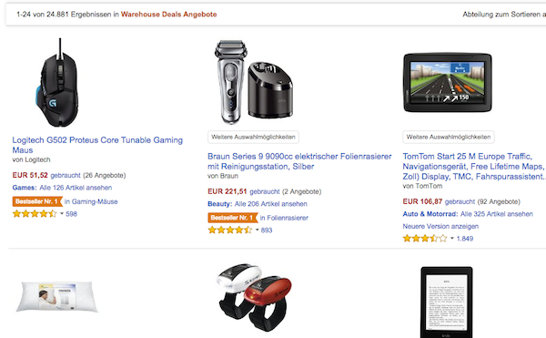 amazon warehouse deals 15 prozent gutschein rabatt