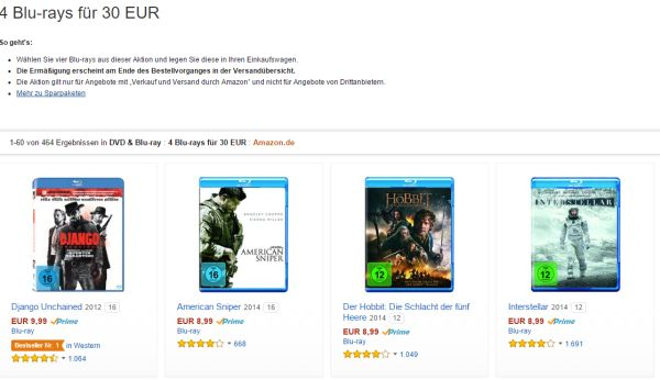 amazon 4 blu rays 30 euro