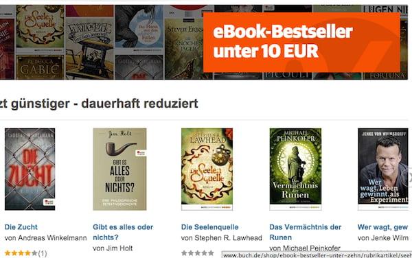 buch de ebook bestseller unter 10 euro