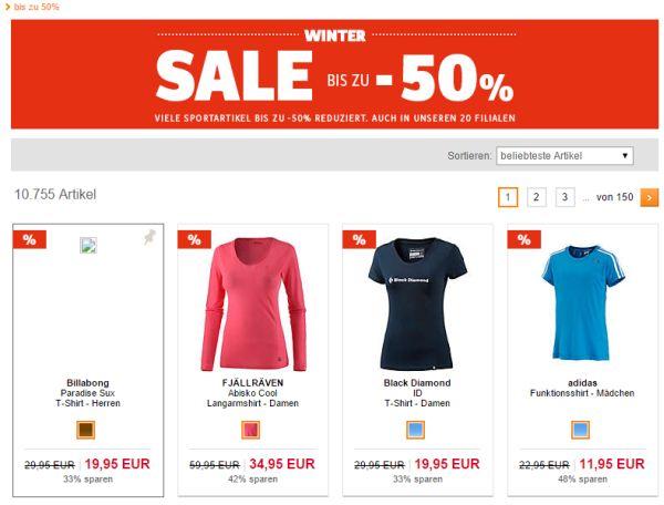 sportscheck winter sale 50 prozent rabatt