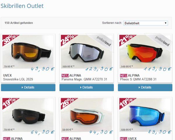 brillenplatz skibrillen outlet 40 prozent rabatt