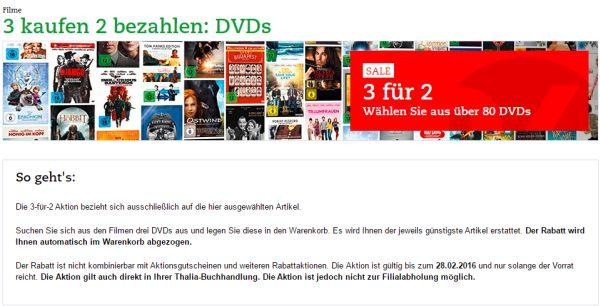 thalia 3 dvds zum preis von 2 aktion