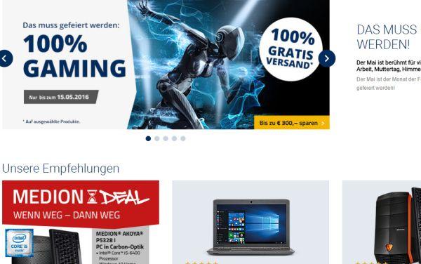 medion gaming woche 300 euro rabatt