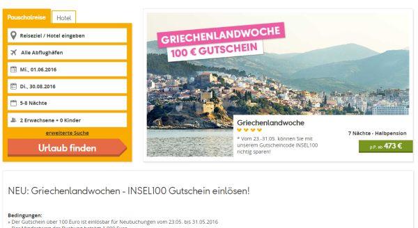 neckermann reisen 100 euro gutschein griechenland