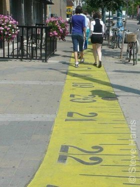 Walking on a measuring tape