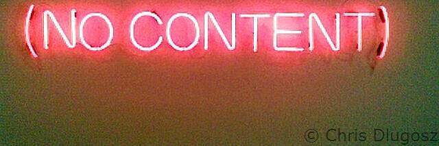 content marketing doesn't exist without content