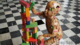 Wooden-Sculpture-of-Science-Genetics