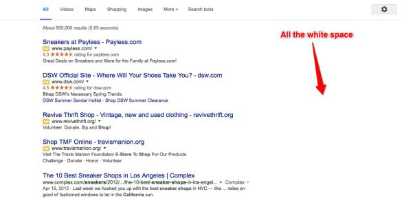 No more sidebar ads AdWords at Google IO