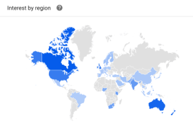 Google trends shows what's trending on a map