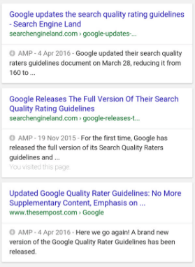 Accelerated Mobile Pages screenshot
