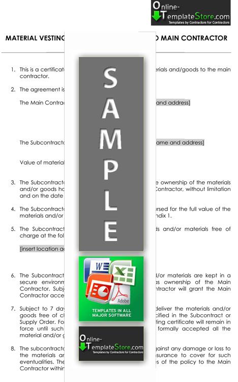 Contractual forms  Construction Templates