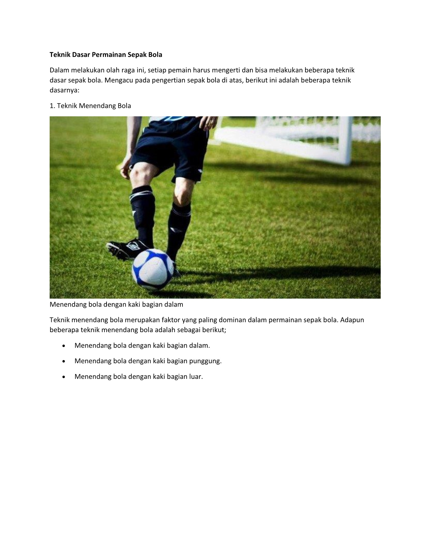 Pengertian Menendang Bola : pengertian, menendang, Sepak