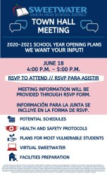 SUHSD Town Hall Meeting Flyer