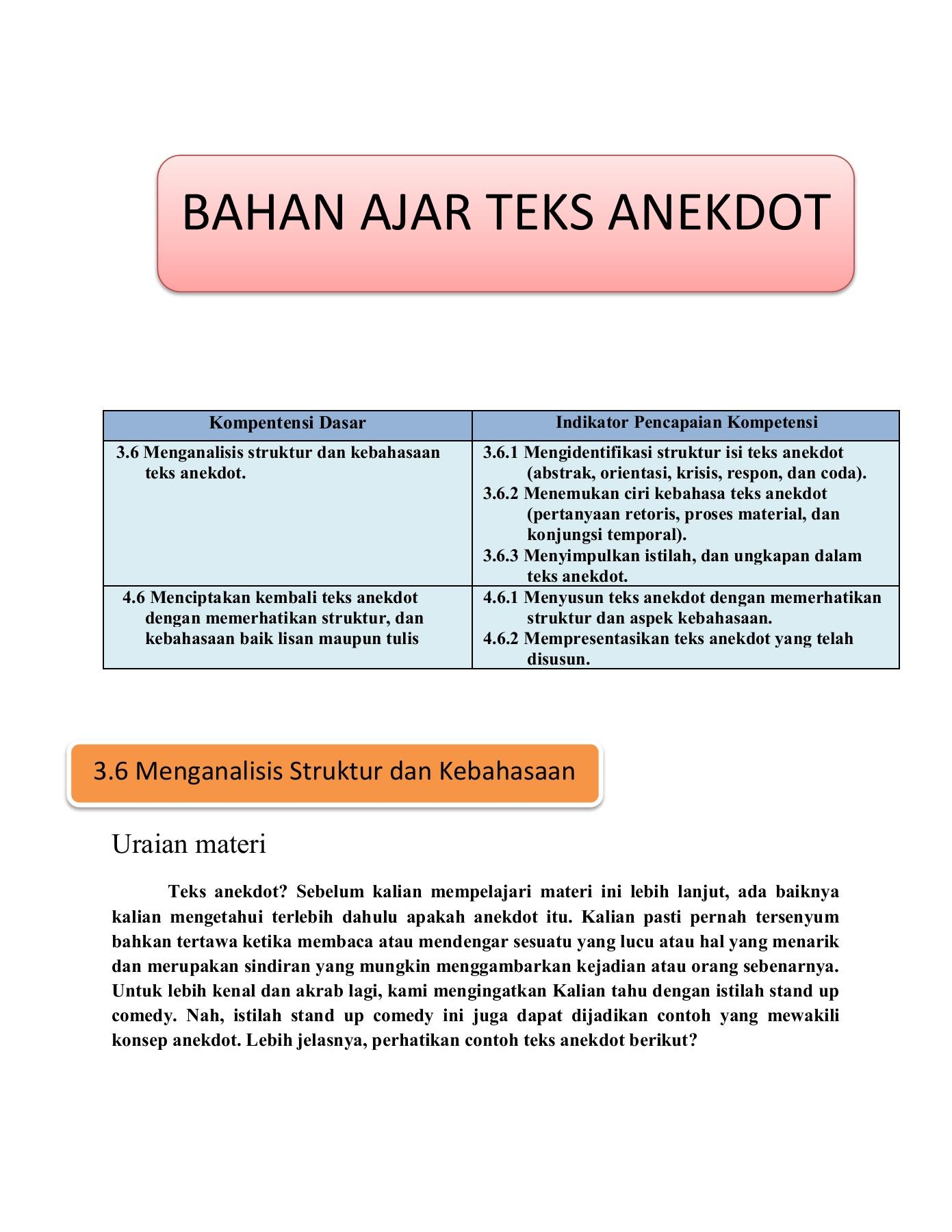 Kalimat Sindiran Dalam Teks Anekdot : kalimat, sindiran, dalam, anekdot, ANEKDOT-Flip, EBook, Pages, AnyFlip