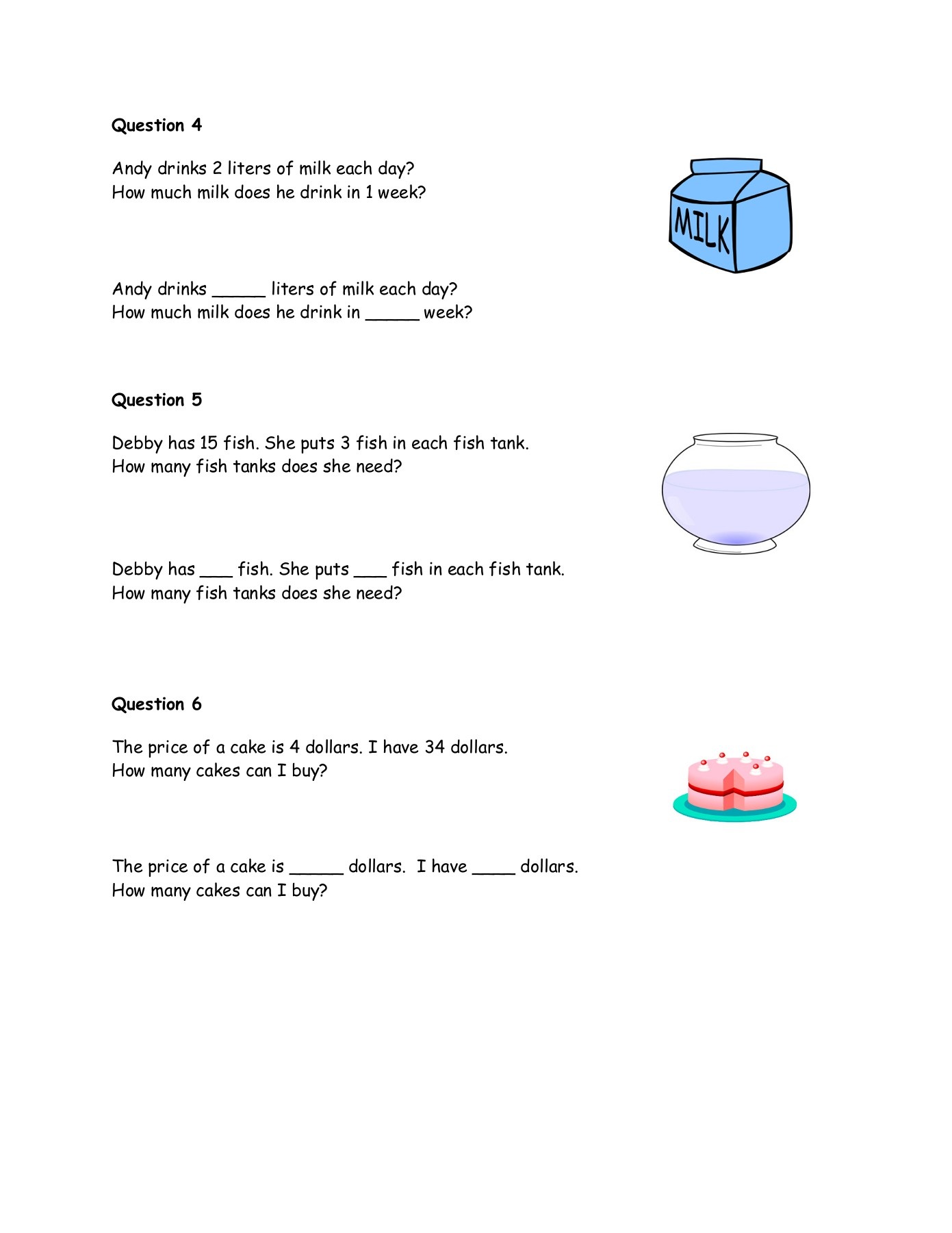 Division Word Problems Grade 4