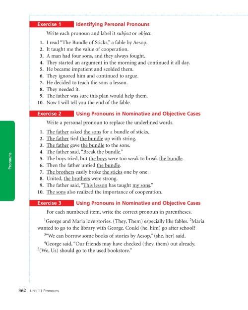 small resolution of 11 UNIT Pronouns - pc mac-Flip eBook Pages 1 - 18  AnyFlip   AnyFlip