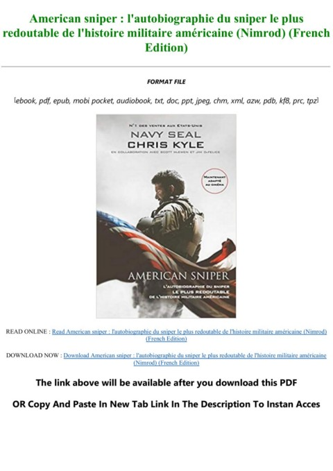 American Sniper (autobiographie) : american, sniper, (autobiographie), Read\Download, American, Sniper, L'autobiographie, Redoutable, L'histoire, Militaire, Américaine, (Nimrod), (French, Edition), DEVICE-Flip, EBook, Pages, AnyFlip