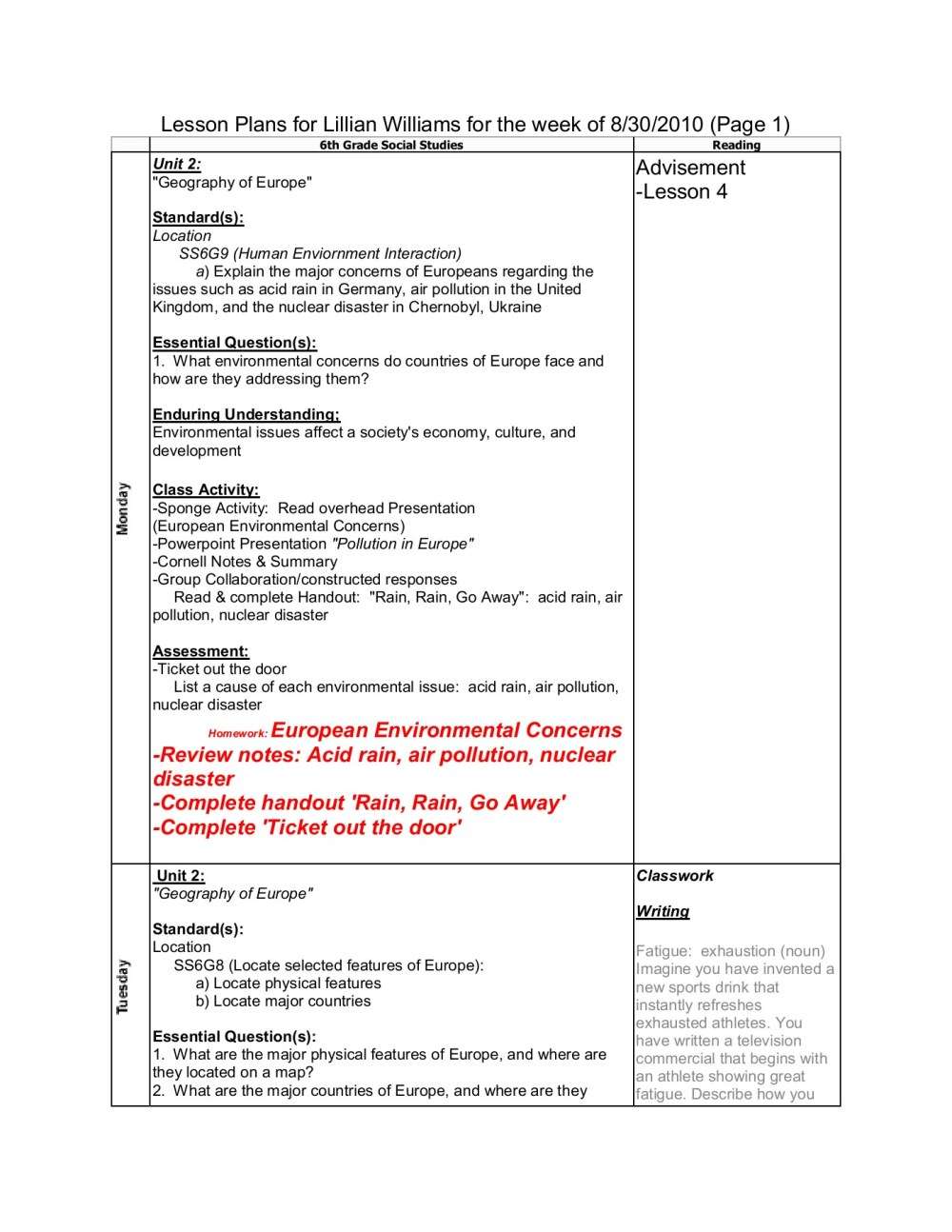 medium resolution of Lesson Plans for Lillian Williams for the week of 8/30 ...-Flip eBook Pages  1 - 4  AnyFlip   AnyFlip