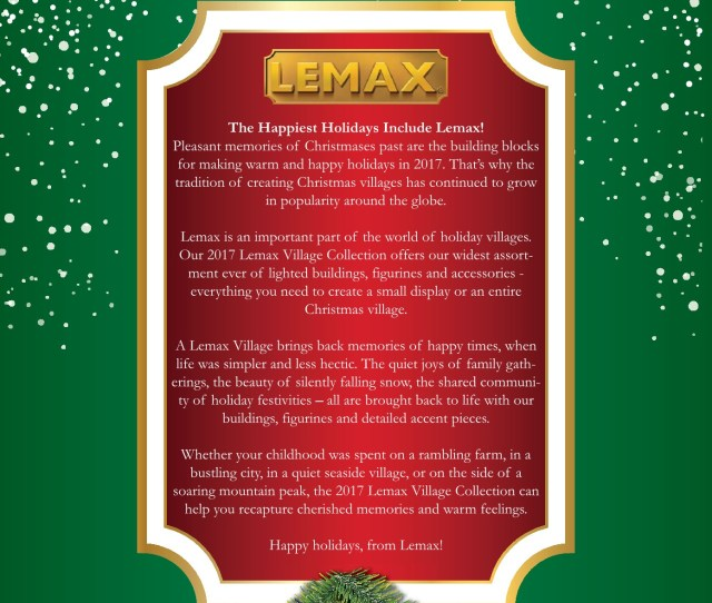 Lemax  Christmas Village Catalogue Pages   Text Version Anyflip