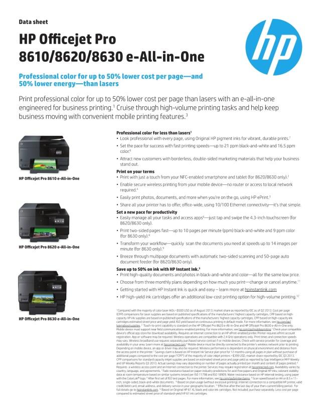 Hp Officejet Pro 29 E-All-In-One Printer datasheet-Flip eBook