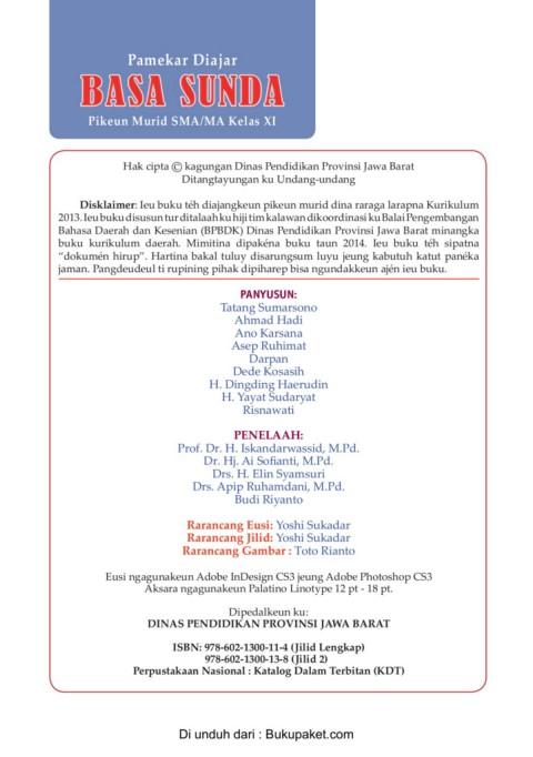 buku pegangan siswa bahasa inggris sma kelas 12 kurikulum 2013. Kelas 11 Pdf Bahasa Sunda