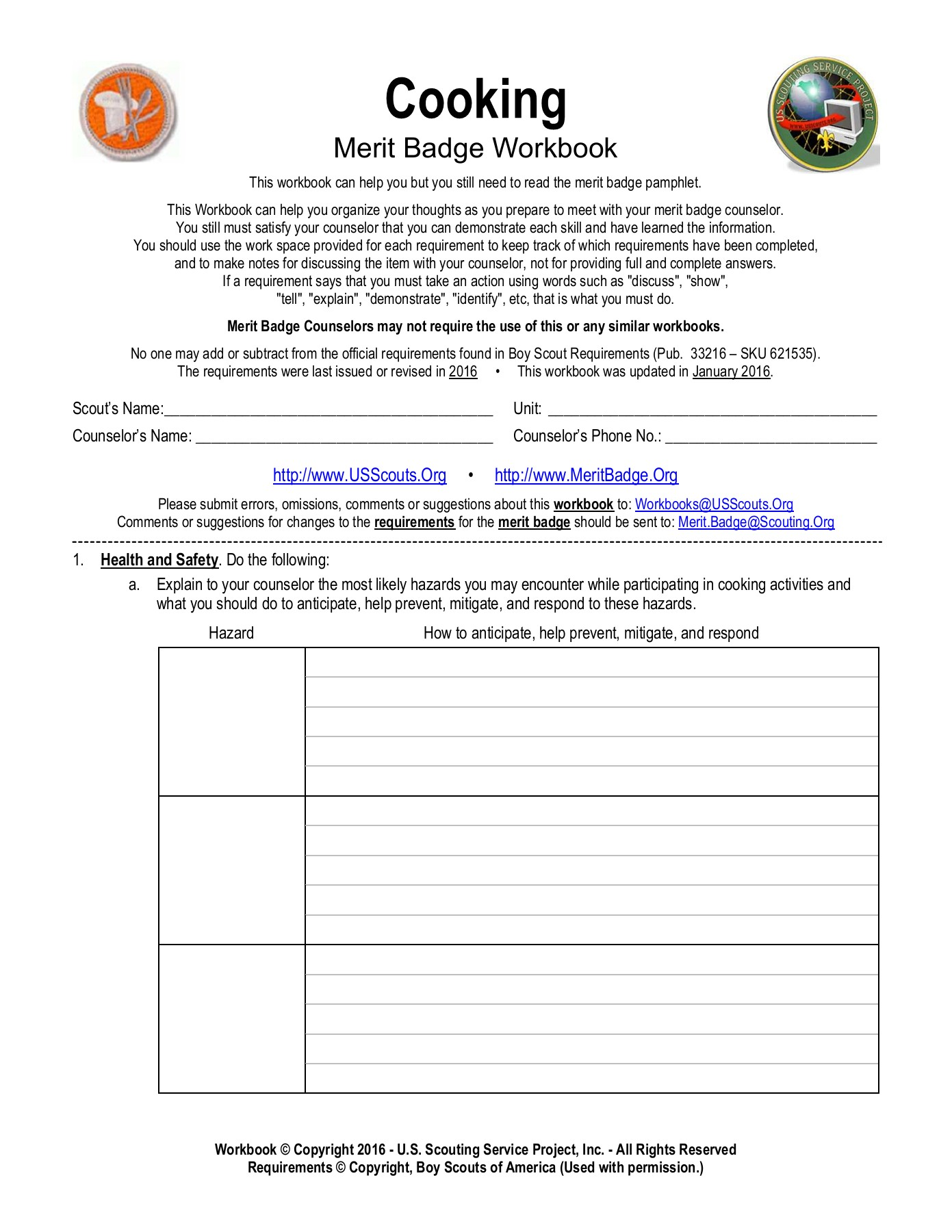 Boy Scout Merit Badge Worksheets First Aid