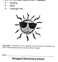 4th Grade Summer Reading Packet [ 1800 x 1397 Pixel ]