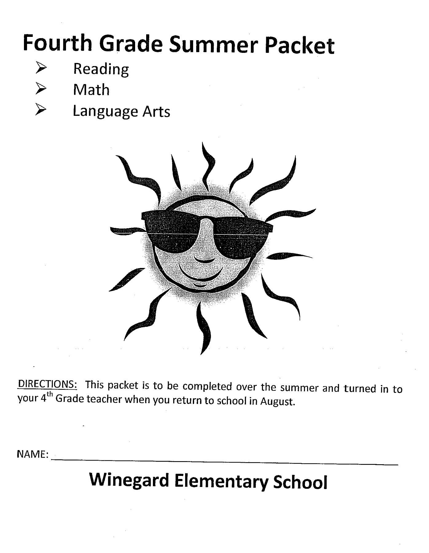 hight resolution of 4th Grade Summer Reading Packet